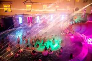 Lukacs Baths Budapest Spa Party Laser