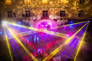Lukacs Baths Budapest Spa Party with Laser Rays