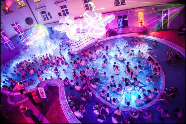 Lukacs Baths Pool Party Budapest