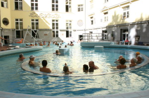 Lukacs Baths Sitting Pool Outdoor Thermal Budapest